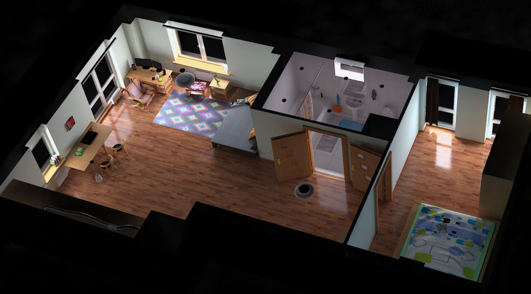 3d rendered apartment model image