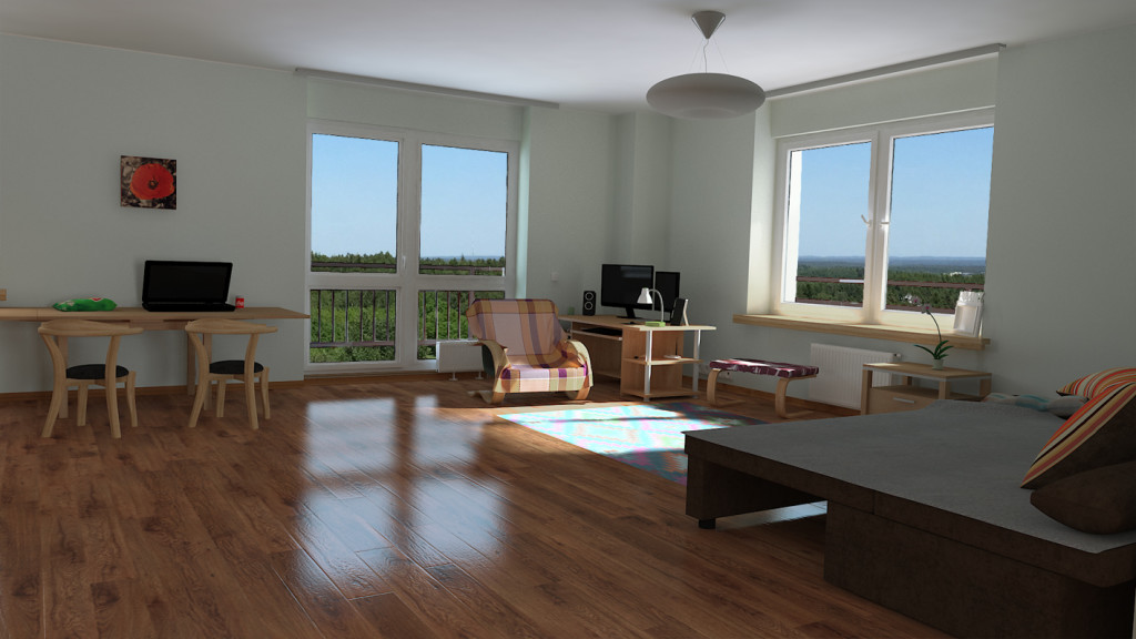 3d rendered image of a living room