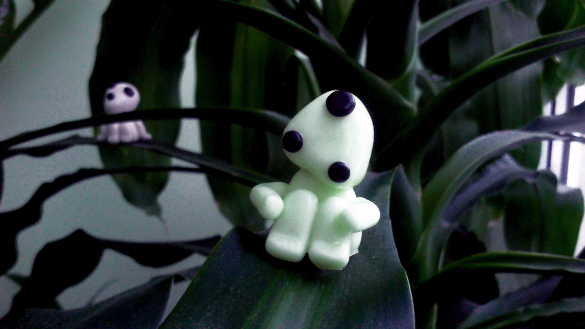 When Ignorance makes you blind:polymer clay figurines of kodamas