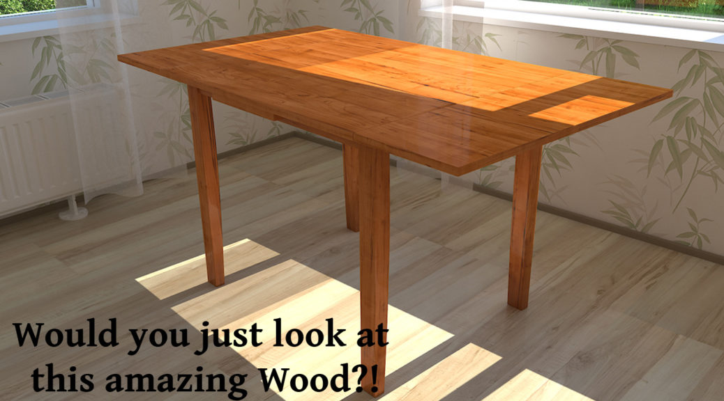 3r dendered image of a wooden table