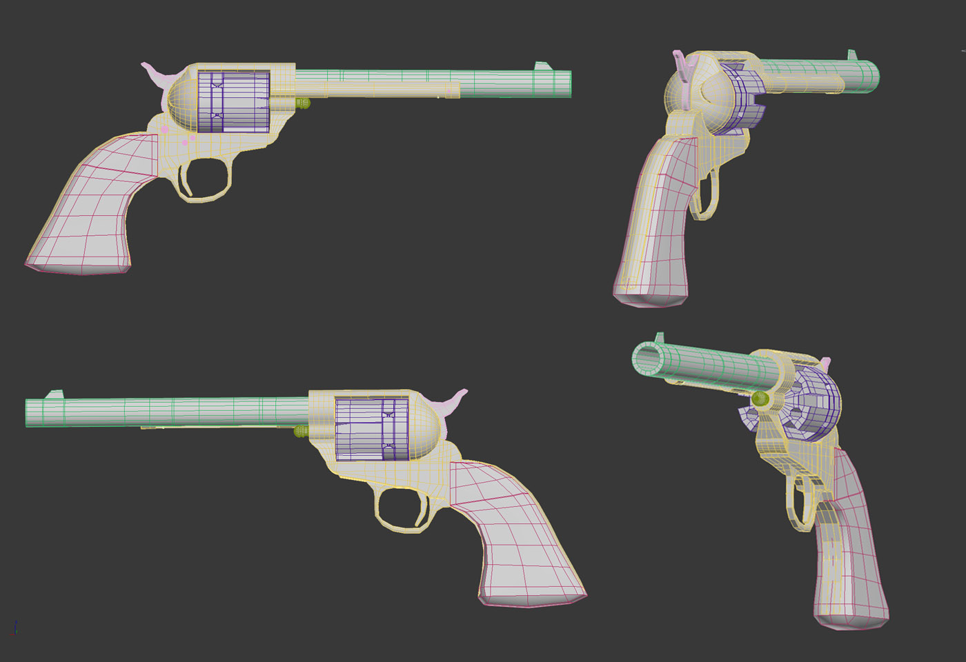 Sixshooter gun 3D model