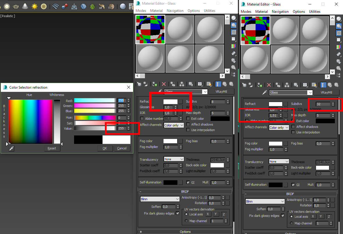 Creating vray glass material in 3dsmax tutorial for Mirror vray material