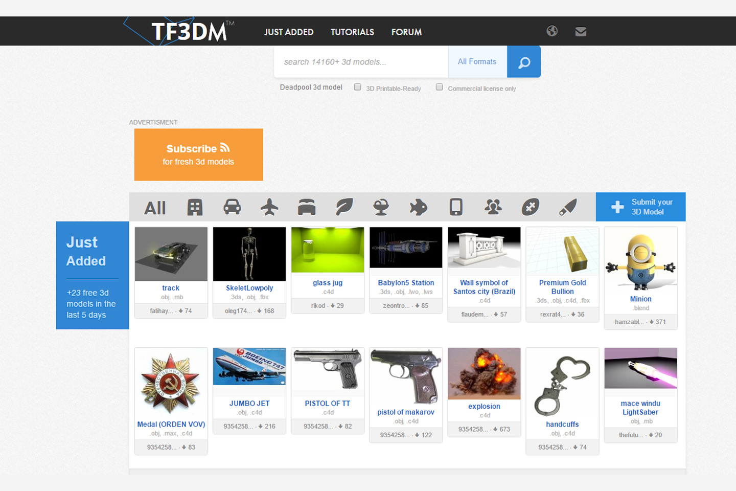 TR3DM.com free 3d models website