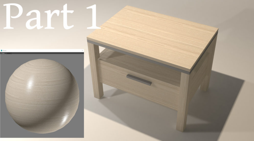 3d rendered image of wooden cabinet