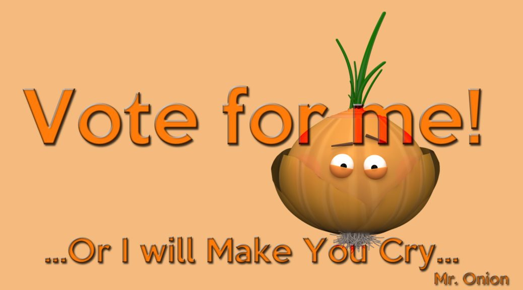 Vote Onion print Threadless