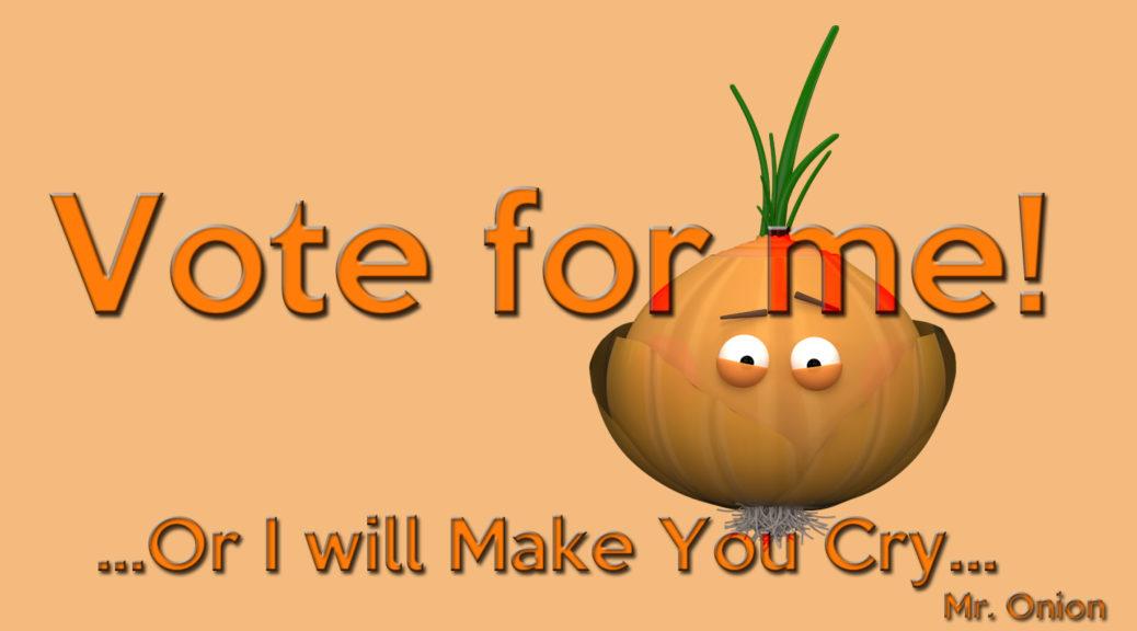 Vote Onion print Threadless