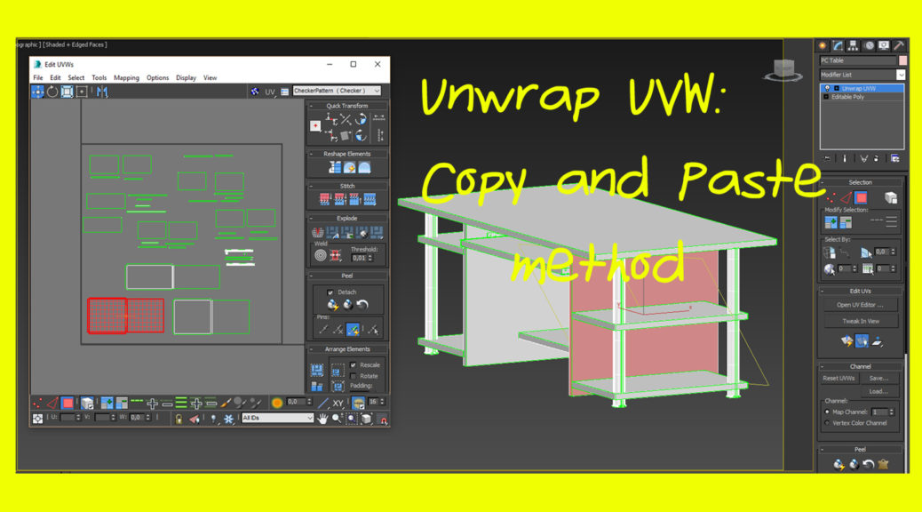 Unwrap UVW 3ds Max Copy and Paste method