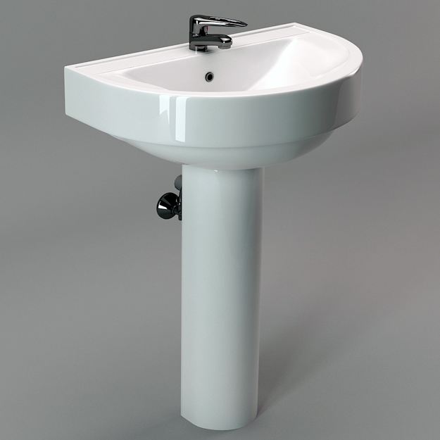 3D sink model, free 3D model, 3D rendered sink