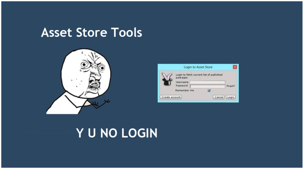 Asset Store Tools Login Failed