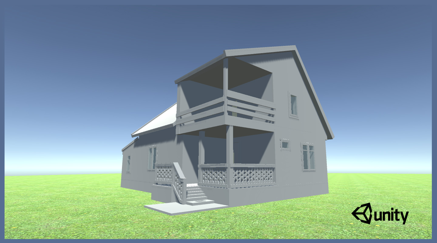 3D house model inside unity game engine