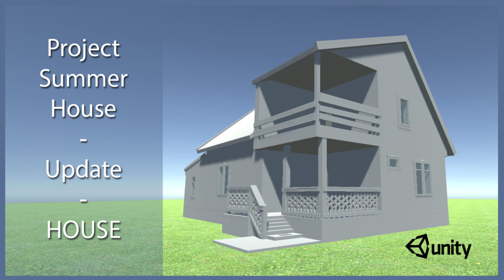 Project Summer House, 3D house rendered in Unity 3D game engine